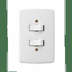 -Interruptor-de-Embutir-2-Teclas-Simples Distanciadas-10A-Horizontal-Duale---branco-220v