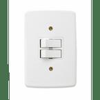 -Interruptor-de-Embutir-1-Tecla-Simples---1-Tecla Paralela-10A-Duale---branco-220v