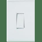 -Interruptor-de-Embutir-com-1-Tecla-Simples-10A Vertical-Liz---branco---220v