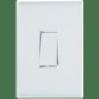-Interruptor-de-Embutir-com-1-Tecla-Simples Bipolar-10A-Horizontal-Liz---branco---220v