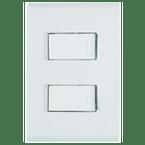 -Interruptor-de-Embutir-com-2-Teclas-Simples-10A Horizontal-Liz---branco---220v