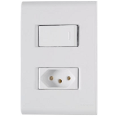 -Interruptor-de-Embutir-com-1-Tecla-Simples-- Tomada-2P--T-10A-Horizontal-Liz---branco---220v