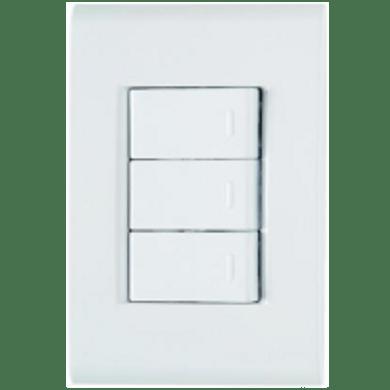 -Interruptor-de-Embutir-com-3-Teclas-Simples-10A Horizontal-Liz---branco---220v