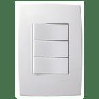Interruptor-de-Embutir-com-2-Teclas-Simples---1-Tecla-Paralela-10A-Horizontal-Pial-Plus