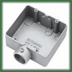 Condulete-de-Aluminio-Duplo-E-sem-Rosca-Cinza---3-4-Polegada