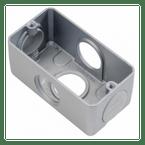 Condulete-de-Aluminio-Multiplo-X-com-Rosca-BSP-Cinza---3-4-Polegada