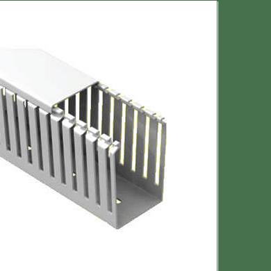 Canaleta-PVC-Aberta-80x50x2000mm-Cinza