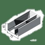 Canaleta-Aluminio-Dupla-Tipo-D-45x73x3000mm-Branca