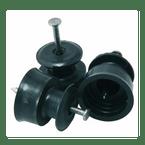 Isolador-Roldana-PVC-com-Prego