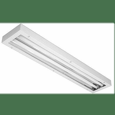 Lumin ria comercial 2x16 18 20w de sobrepor para - Luminaria fluorescente estanca ...