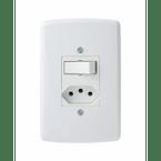 -Interruptor-de-Embutir-com-1-Tecla-Simples-- Tomada-10A-Horizontal-Duale---branco-220v
