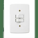 -Interruptor-de-Embutir-com-2-Teclas-Simples Juntas-Horizontal-Duale---branco-220v