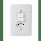 -Interruptor-de-Embutir-com-2-Teclas-Simples- Tomada-10A-Horizontal-Duale---branco-220v