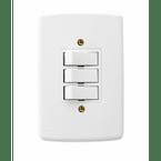 -Interruptor-de-Embutir-com-3-Teclas-Simples Horizontal-Duale---branco-220v