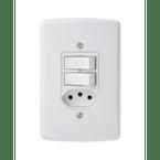-Interruptor-de-Embutir-Simples---Interruptor Paralelo-10A-Horizontal-Duale---branco-220v