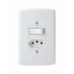-Interruptor-de-Embutir-Simples-Tomada-2P-T 20A-Duale---branco-220v