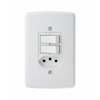 -Interruptor-de-Embutir-Com-2-Teclas-Simples-- Tomada-20A-Horizontal-Duale---branco-220v