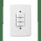 -Interruptor-de-Embutir-com-2-teclas-Simples Vertical-10A-Duale---branco-220v