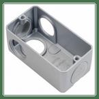Condulete-de-Aluminio-Multiplo-L-Com-Rosca-BSP-Cinza---3-4-Polegada