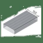 Tampa-para-Canaleta-Aluminio-73x3000mm-Anodizado-Fosco