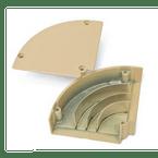 Curva-para-Canaleta-Aluminio-Horizontal-73x25mm-Branca