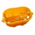 Caixa-de-Derivacao-em-PVC-Para--Gesso-4x2-Com-Orelha-PVC-Amarelo-Caixa-de-Derivacao-em-PVC-Para--Gesso-4x2-Com-Orelha-PVC-Amarelo